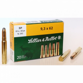 Патрон 9,3x62 SP Sellier&Bellot 18,5гр.